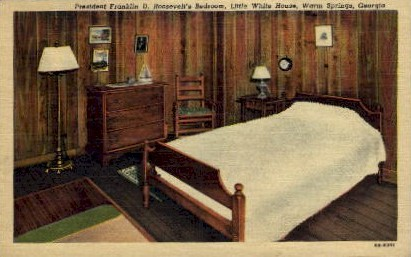 Franklin D. Roosevelt's Bedroom - Warm Springs, Georgia GA Postcard