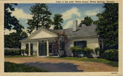 The Little White House - Warm Springs, Georgia GA Postcard