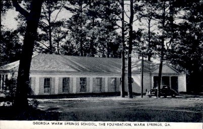 Georgia Warm Springs School Postcard