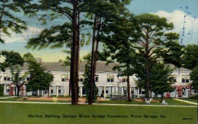 Medical Building - Warm Springs, Georgia GA Postcard