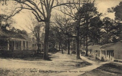 South View of Colony - Warm Springs, Georgia GA Postcard