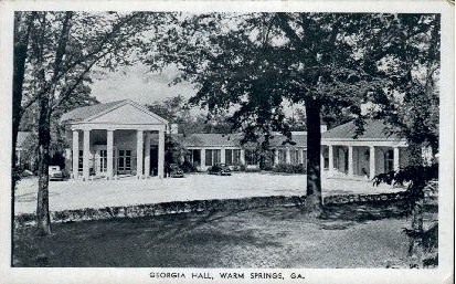 Georgia Hall - Warm Springs Postcard