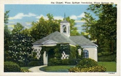 The Chapel - Warm Springs, Georgia GA Postcard