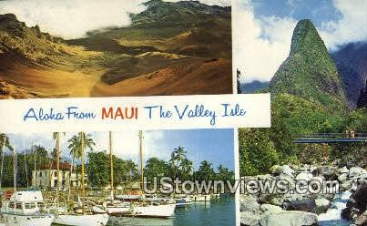 The Valley Isle - Maui, Hawaii HI Postcard