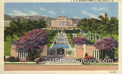 L.D.S. Mormon Temple, Laie - Oahu, Hawaii HI Postcard