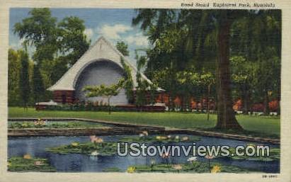 Band Stand Kapiolani Park - Honolulu, Hawaii HI Postcard