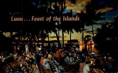 Luau (Hawaiian Feast) - Waikiki Postcard