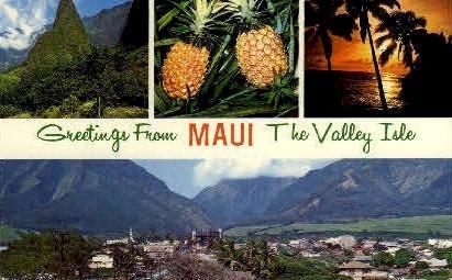 Greetings From - Maui, Hawaii HI Postcard
