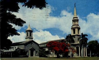 Central Union Church - Hawaiian Islands Postcards, Hawaii HI Postcard