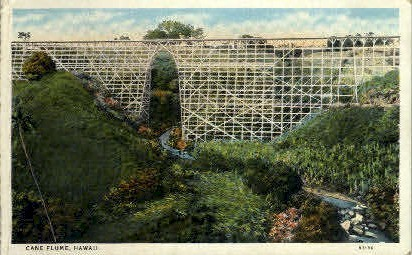 Cane Flume - Hawaii Postcards, Hawaii HI Postcard