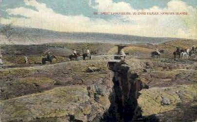 # 196 Great Lava Fissure - Hawaiian Islands Postcards, Hawaii HI Postcard