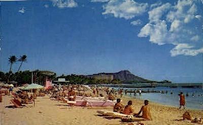 Duke Kahanamoku Beach - Waikiki, Hawaii HI Postcard