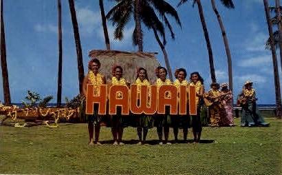 Kodak Hula Show - Waikiki, Hawaii HI Postcard