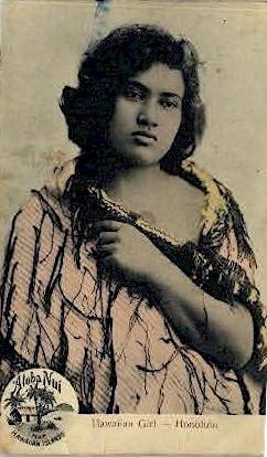 # 137 Hawaiian Girl - Honolulu Postcard