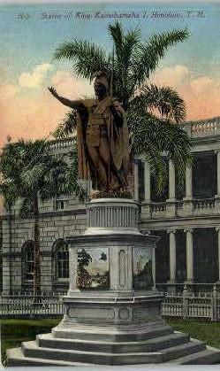 King Kamehameha - Honolulu, Hawaii HI Postcard