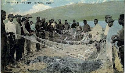 Hukilau Fishing  - Hawaiian Islands Postcards, Hawaii HI Postcard