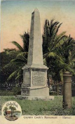Captain Cook Monument - Hawaii Postcards, Hawaii HI Postcard
