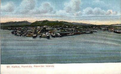 # 80 Harbor - Honolulu, Hawaii HI Postcard