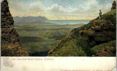 # 67 Pali Scenic Battle Ground - Honolulu, Hawaii HI Postcard