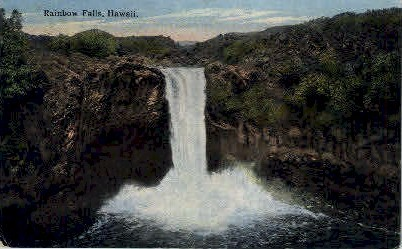 Rainbow Falls - Hawaii Postcards, Hawaii HI Postcard
