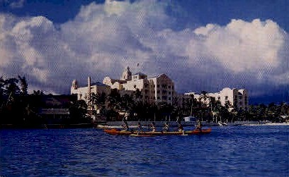 Outrigger Canoeing  - Waikiki, Hawaii HI Postcard