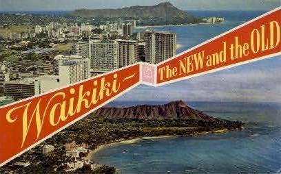 Waikiki, Hawaii, HI Postcard