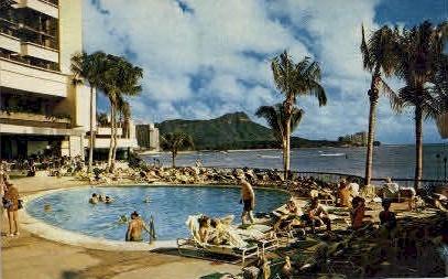Sheraton-Waikiki - Hawaii HI Postcard