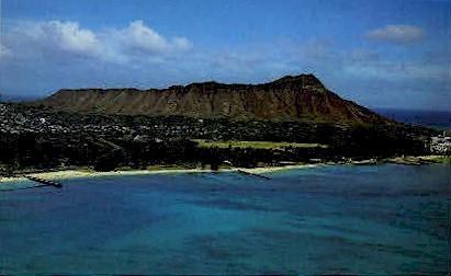 Diamond Head - Waikiki, Hawaii HI Postcard