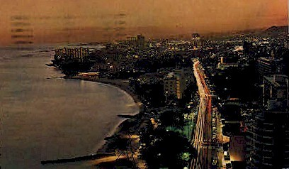 Kalakaua Ave. - Waikiki, Hawaii HI Postcard