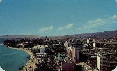Waikiki Hotels - Hawaii HI Postcard