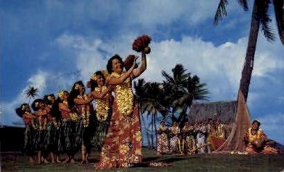 Hula Dancers - Waikiki, Hawaii HI Postcard