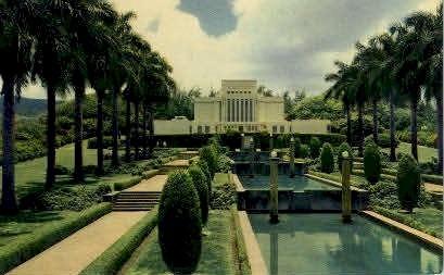 Mormon Temple  - Laie, Hawaii HI Postcard