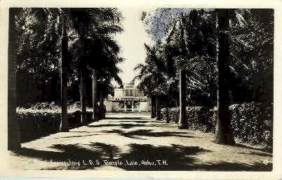 L.D.S. Temple - Laie, Hawaii HI Postcard