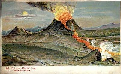 # 94 Volcano - Mauna Loa, Hawaii HI Postcard