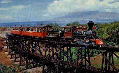Lahaina-Kaanapali & Pacific Railroad - Maui, Hawaii HI Postcard