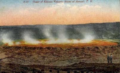 Crater of Volcano - Kilauea, Hawaii HI Postcard