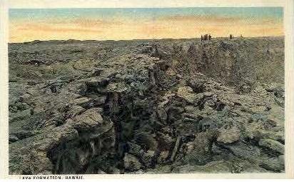 Lava Formation - Kilauea, Hawaii HI Postcard