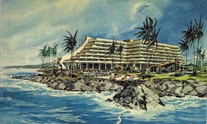 Kona Hilton - Hawaii HI Postcard