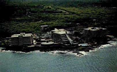 Kona Hilton Beach - Kona Coast, Hawaii HI Postcard