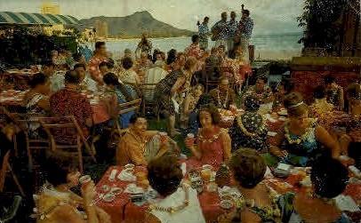 Luau - Waikiki, Hawaii HI Postcard