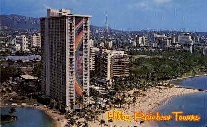 Hilton Rainbow Tower - Waikiki, Hawaii HI Postcard