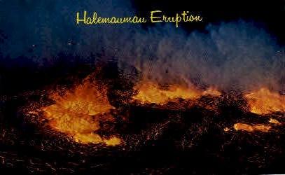 Halemaumau Eruption - Hawaii HI Postcard