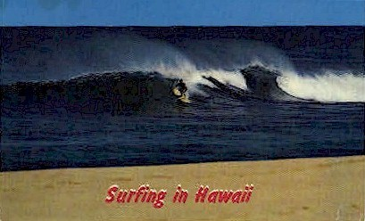 Surfing - Hawaii Postcards, Hawaii HI Postcard