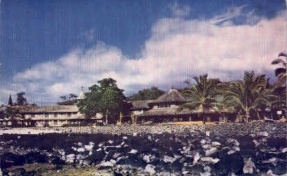 Kona Inn - Kona Coast, Hawaii HI Postcard
