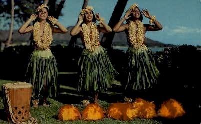 Hula Maidens - Waikiki, Hawaii HI Postcard