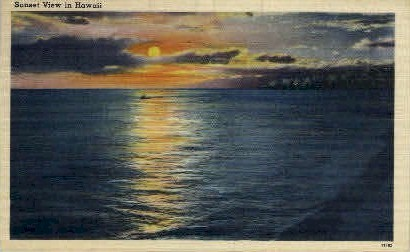 Sunset - Hawaii Postcards, Hawaii HI Postcard