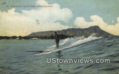 Surf Board Rider - Hawaiian Islands Postcards, Hawaii HI Postcard