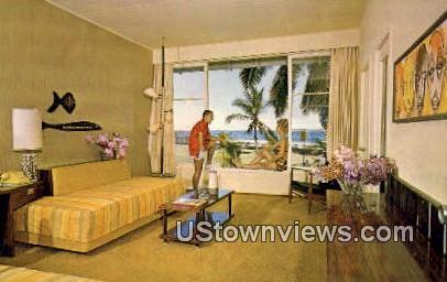 Kona Inn Guest Room - Kailua-Kona, Hawaii HI Postcard