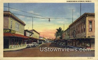 Kamehameha Ave. - Hawaii Postcards, Hawaii HI Postcard