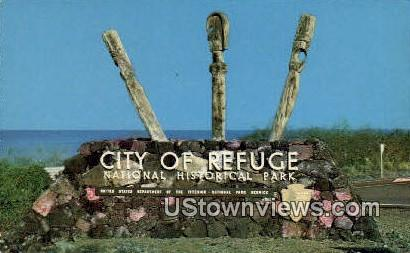 City Refuge National Historical Park - Kona, Hawaii HI Postcard